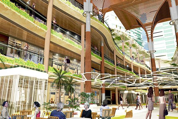 Puri Indah Courtyard rendering 2 Design Architect