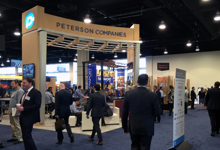 Peterson Companies booth at ICSC Mid Atlantic Conference 2016 National Harbor, Maryland