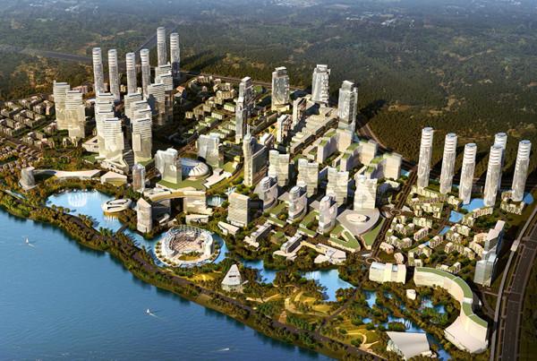 Xian Right Bank Master Plan Xian China Design Architect