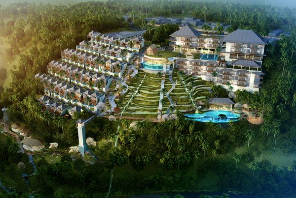 Aerial View Royal Venya Resort Ubud Bali inPLACE Design Architect