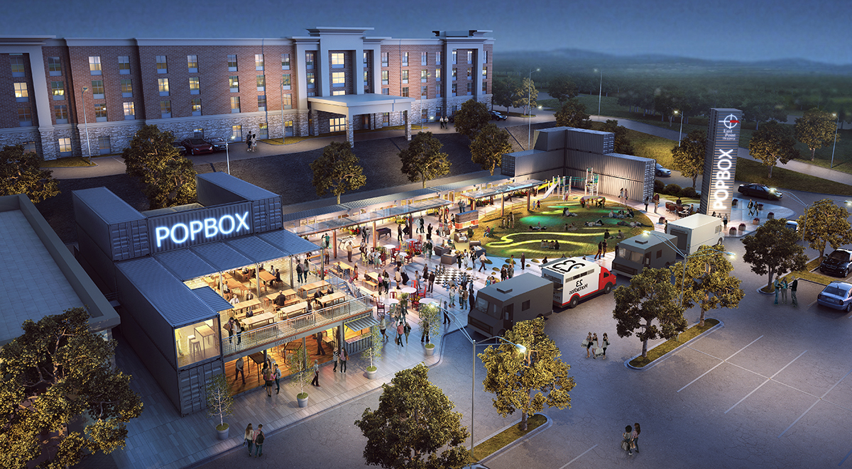 Popbox Container Park Designed By Inplace Design